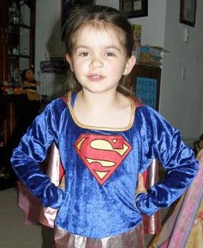 Anna as Supergirl