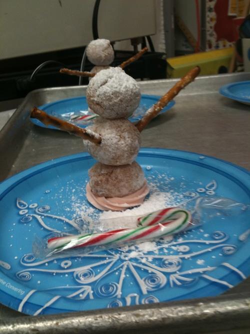 Snowman dessert