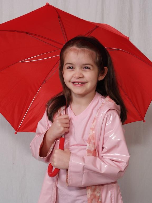 Anna with an umbrella