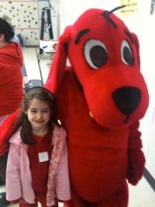 Anna and Clifford the Big Red Dog