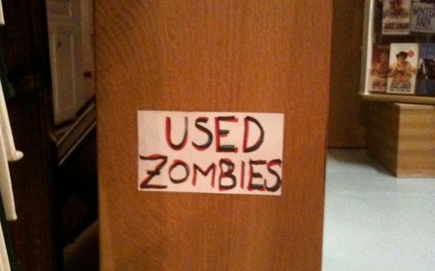 """Used Zombies"" bookstore sign"