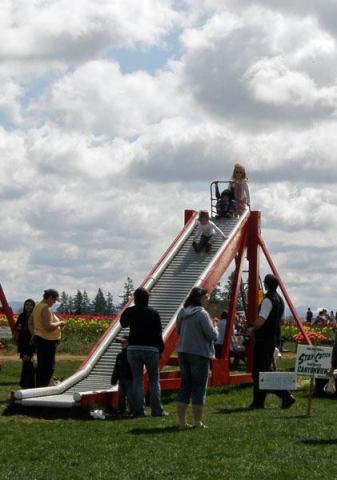A bumpy slide