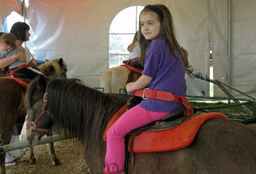 Anna on a pony.