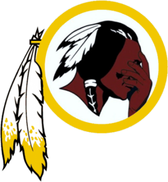 Redskins facepalm logo - Fair use.