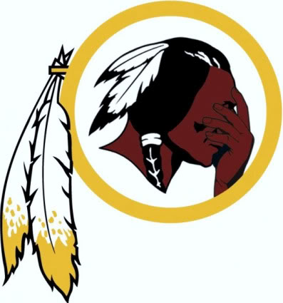 Redskin logo facepalming