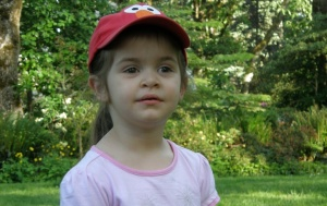Three-year-old Anna at Hendricks Park, May 2009
