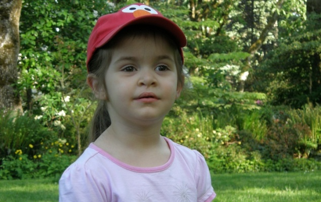 Three-year-old Anna at Hendricks Park, May 2009