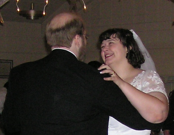 Julia and I share our first dance as husband and wife.