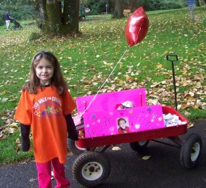 Anna at the 2011 Walk for Children with Apraxia of Speech, Salem, OR