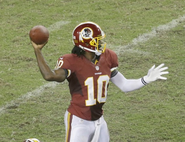 Robert Griffin III leads the Redskins to a game-winning field goal!