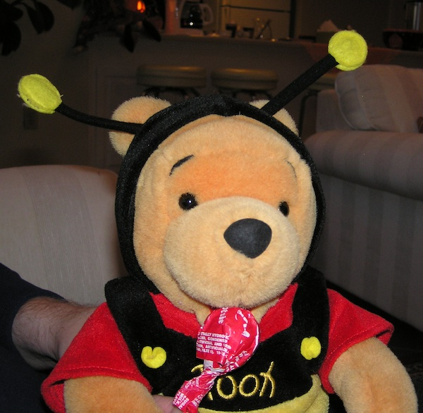 Winnie the Pooh as a bee