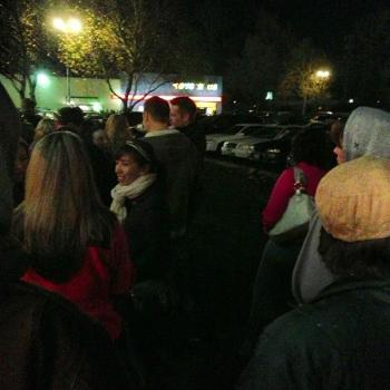 Line outside Toys R Us on Thursday night