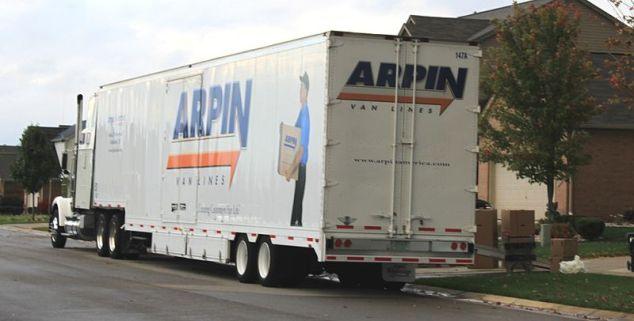 Arpin Van Lines moving van