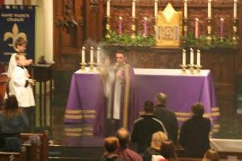 Censing the congregation at Advent Vespers