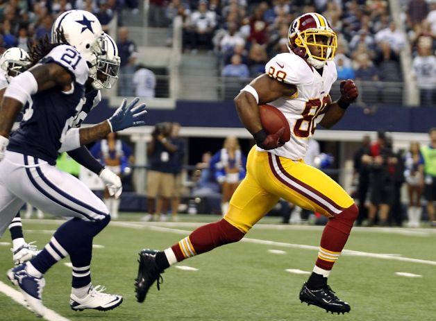 Pierre Garçon outruns three Dallas defenders for a touchdown.