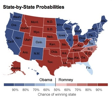 Nate Silver's State-by-State probability map