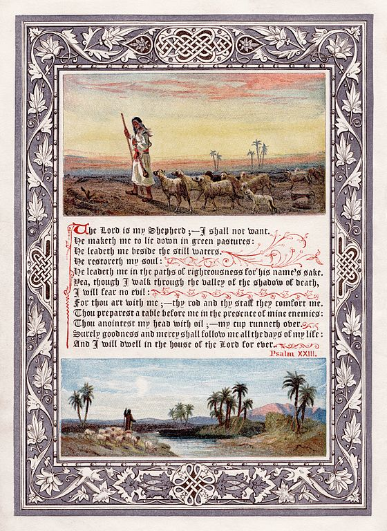 Psalm 23 (KJV) frontispiece to the 1880 omnibus printing of The Sunday at Home.