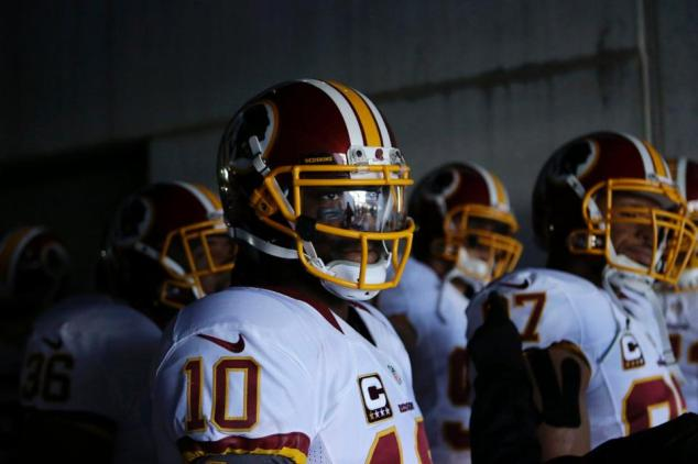Redskins await the start of last week's game in Philadelphia