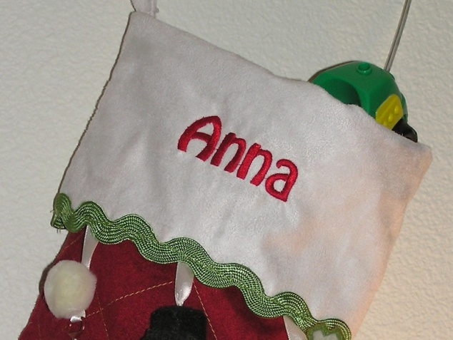 Anna's Christmas stocking (closeup)