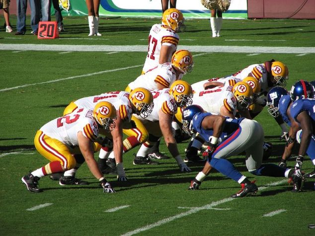 Redskins at line of scrimmage against the NY Giants