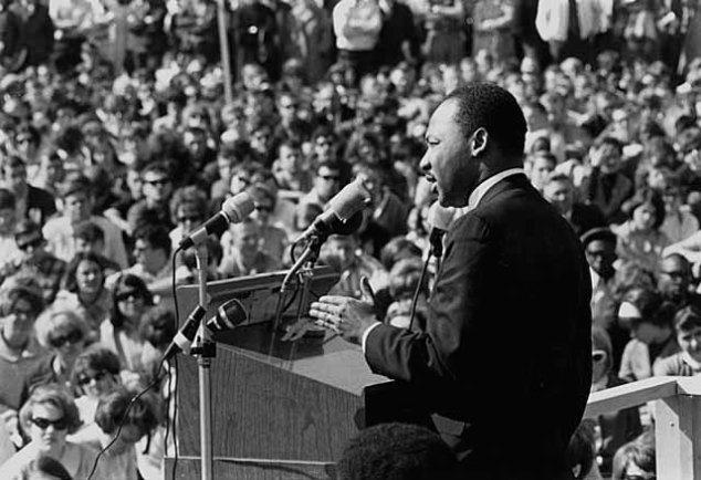 Martin Luther King, Jr., speaking against the Vietnam War, St. Paul Campus, University of Minnesota