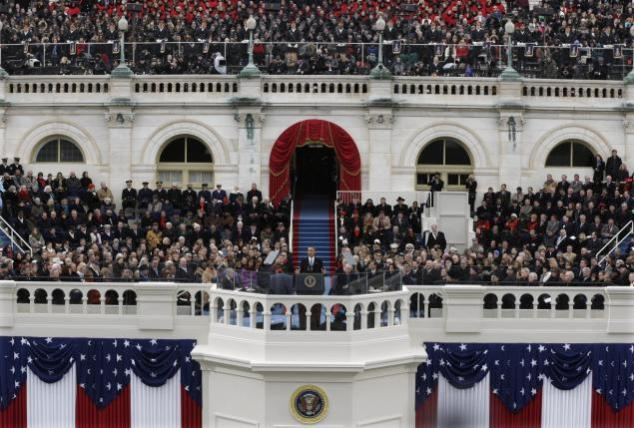 President Obama delivers his second inaugural address.