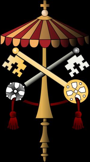 Sede vacante papal arms.