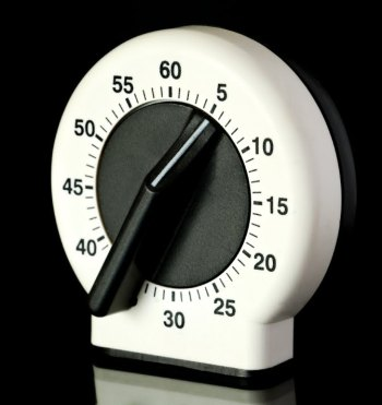 Timer set to five minutes