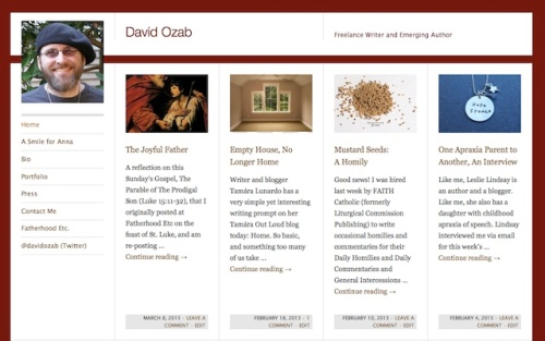 Screen capture of DavidOzab.com