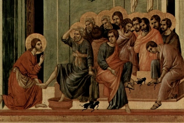 Foot washing at last supper
