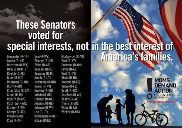 These Senators voted for special interests, not the best interests of their families.
