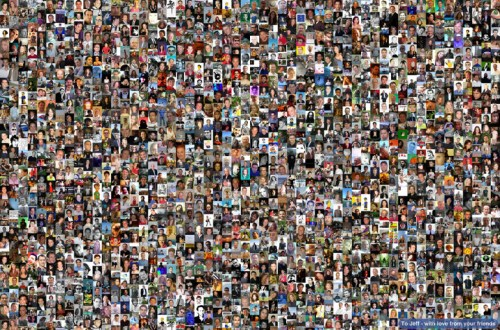 A giant FB friend collage.