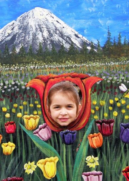 Anna as a tulip.