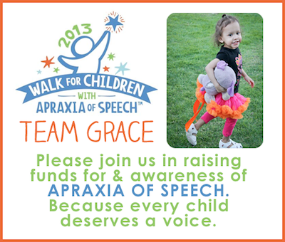 Grace's Apraxia Walk 2013 flyer
