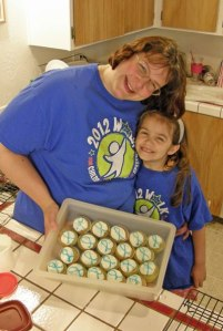 Julia and Anna with Apraxia Awareness Day Cupcakes