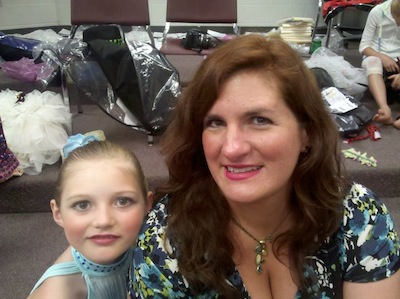 Vivian and her Mom at ballet