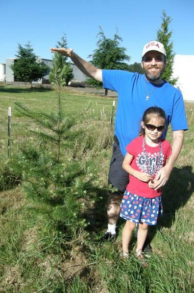 Anna and I next to the tree (2013)