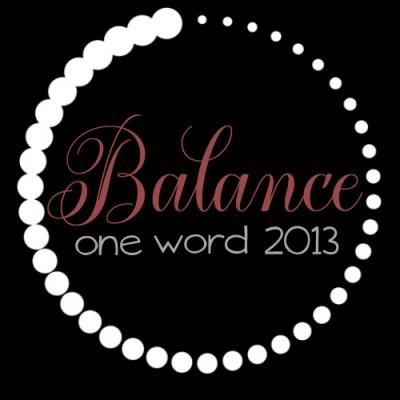 Balance (one word 2013)
