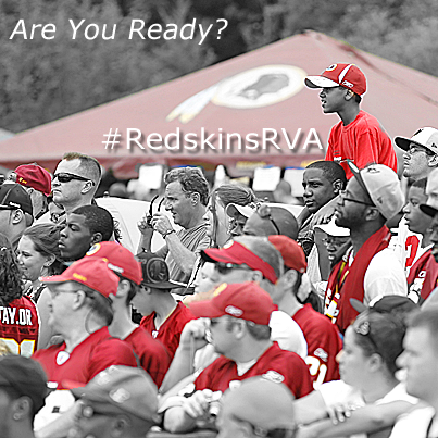 Are you ready? #RedskinsRVA
