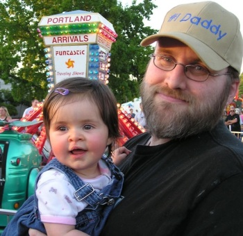 Anna and I at the fair in 2006