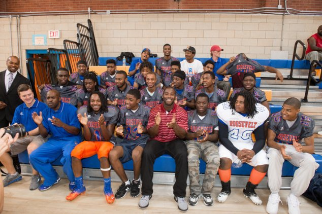 Pierre Garcon and Roosevelt HS Football Team