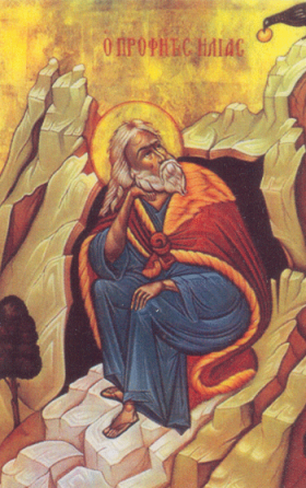 The prophet Elijah, from a Greek Orthodox icon.