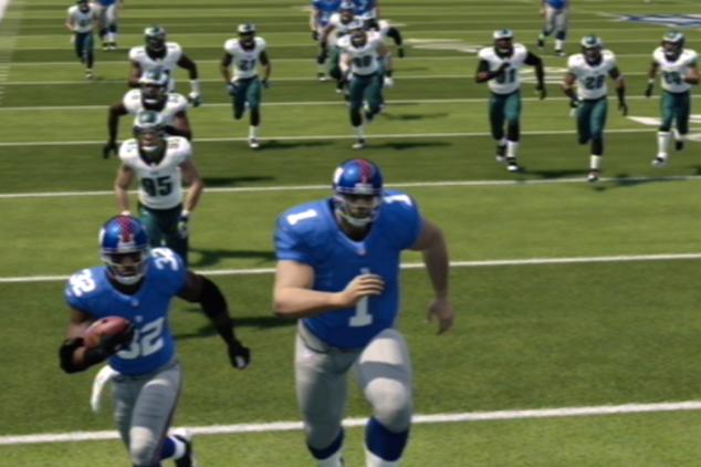 Giants run through Eagles in Madden.