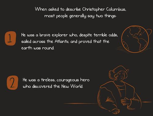 When asked to describe Columbus …