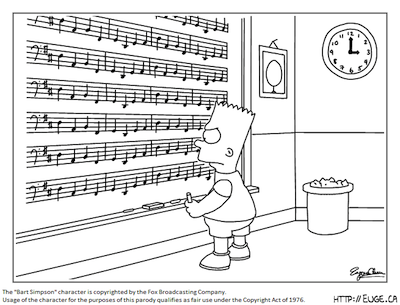 Bart Simpson and Pachelbel