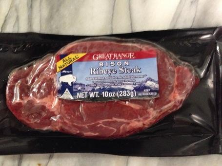 Canadian bison steak