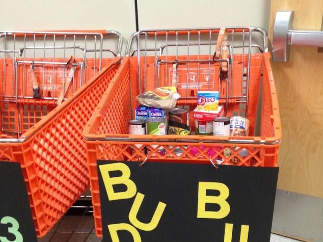 Half-full cart!