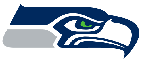 Seattle Seahawks logo (SeattleSeahawks.com via Wikipedia)