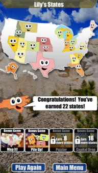 Congratulations! You've earned 22 states!