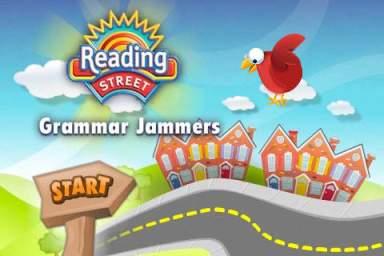 Grammar Jammers startscreen